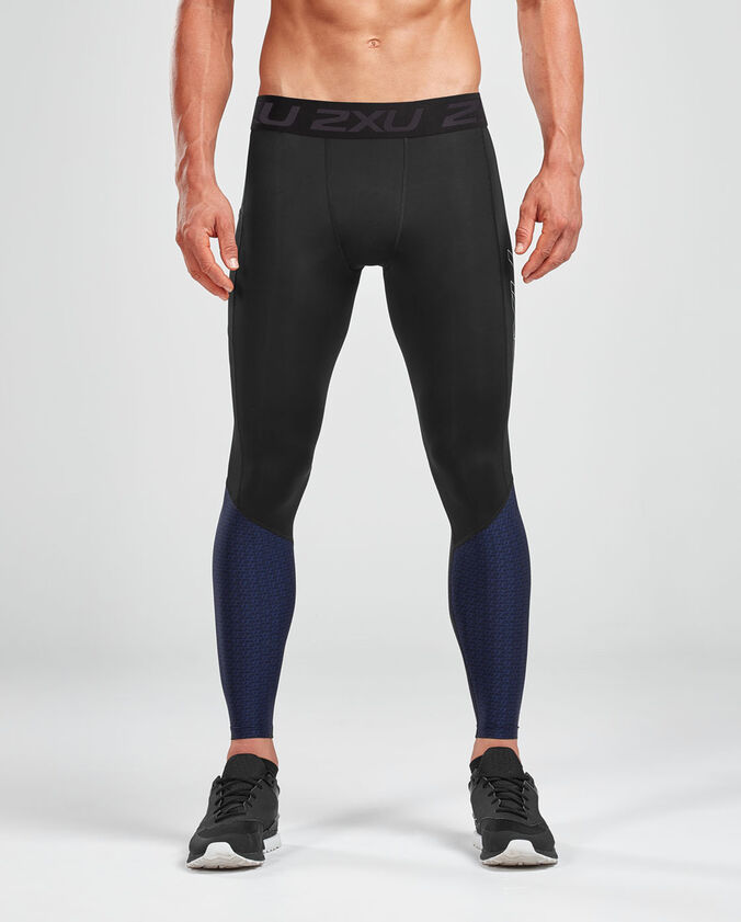 2XU Men's Accelorageerate Compression Tights with Storage-MA5371B (BLK/MBX)
