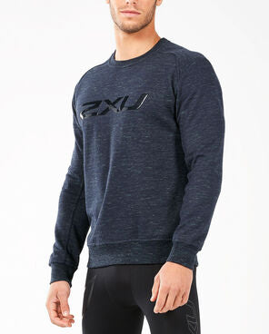 2XU Men's Urban Crew Pullover- MR5077A (NVY/NVY)
