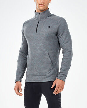 2XU Men's Urban 1/4 Zip Top- MR5112A (CHR/CHR)