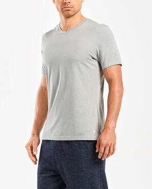 2XU Men's Urban Origins V Neck Short Sleeve Top- MR5115A (NLG/NLG)