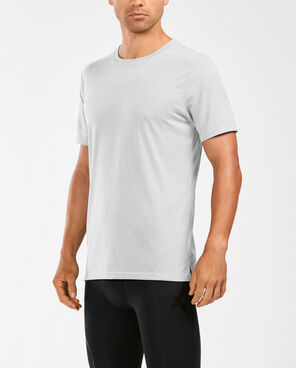 2XU Men's Urban Crew Neck Tee- MR5169A (WHT/WHT)