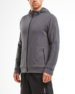 2XU Men's Urban Zip THRU Hoodie- MR5236A (CHR/CHR)