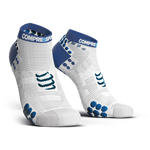 COMPRESSPORT PRO RACING SOCKS RUN LOW ASIA (RSLV3-00BL-AS) - WHITE/BLUE