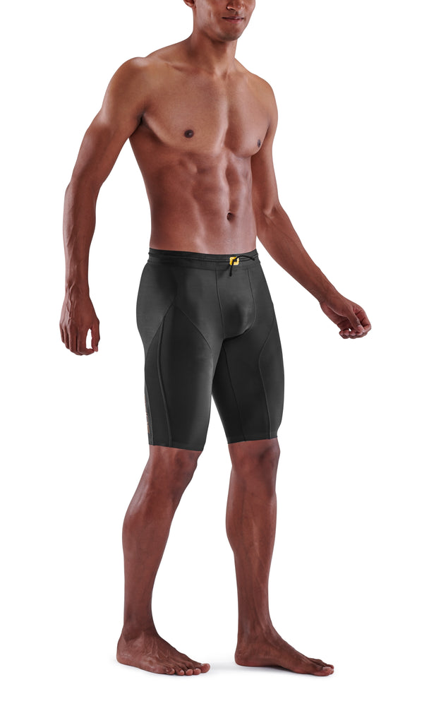 SKINS Men's Compression Half Tights 5-Series - Black