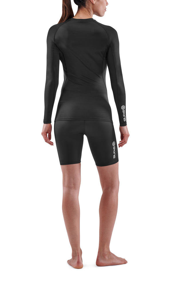 SKINS Women's Compression Long sleeve Tops 1-Series - Black