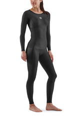 Skins Women's Compression Long Sleeve Tops 3-Series - Black  ( Pre-order/ Restock 28 Feb 2021 )