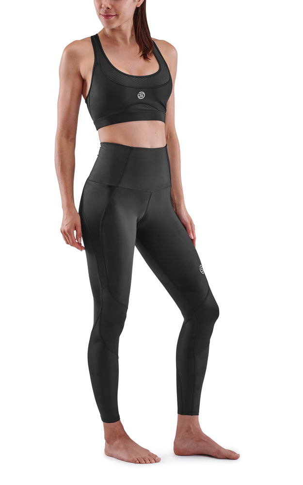 SKINS Women's Compression Skyscraper Tights 3-Series - Black  ( Pre-order/ Restock 28 Feb 2021 )