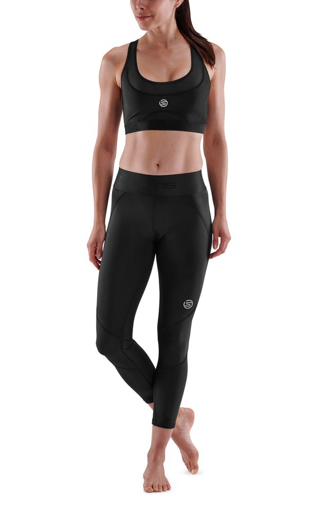 SKINS Women's Compression Long Tights 3-Series - Black