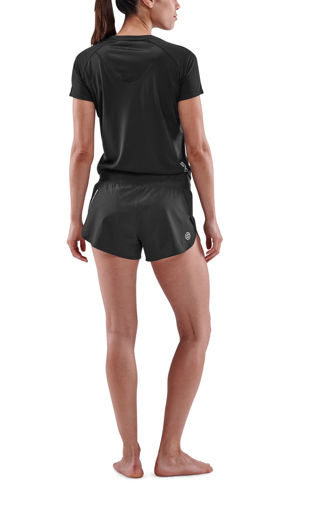 SKINS Women's Activewear Run Shorts 3-Series - Black