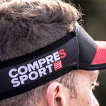 OMPRESSPORT SPIDERWEB ULTRALIGHT VISOR - RED / BLACK (SULVISOR-03)