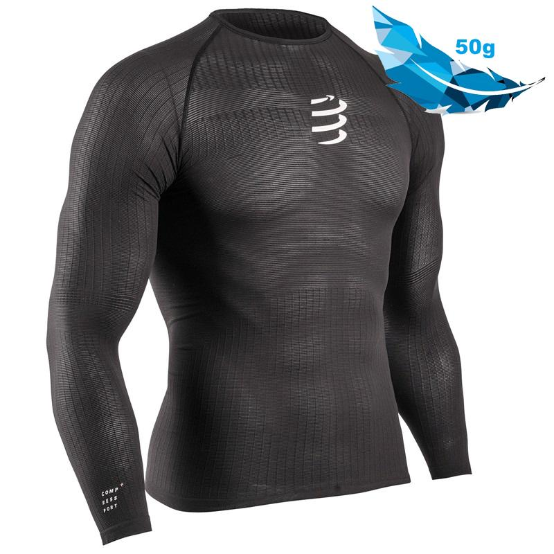 COMPRESSPORT 3D THERMO 50G LS TSHIRT-BLACK (TS3D-LS-50)