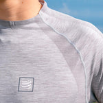 COMPRESSPORT TRAINING TSHIRT LS - GREY MELANGE