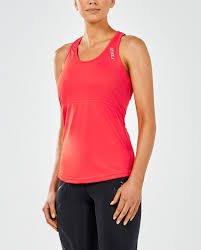 2XU Women's Singlet WR4293a RED