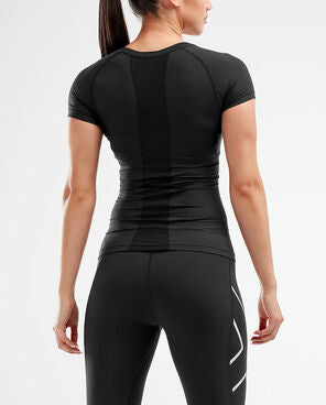 2XU Women's Compression Short Sleeve Top-WA2269A (BLK/BLK)