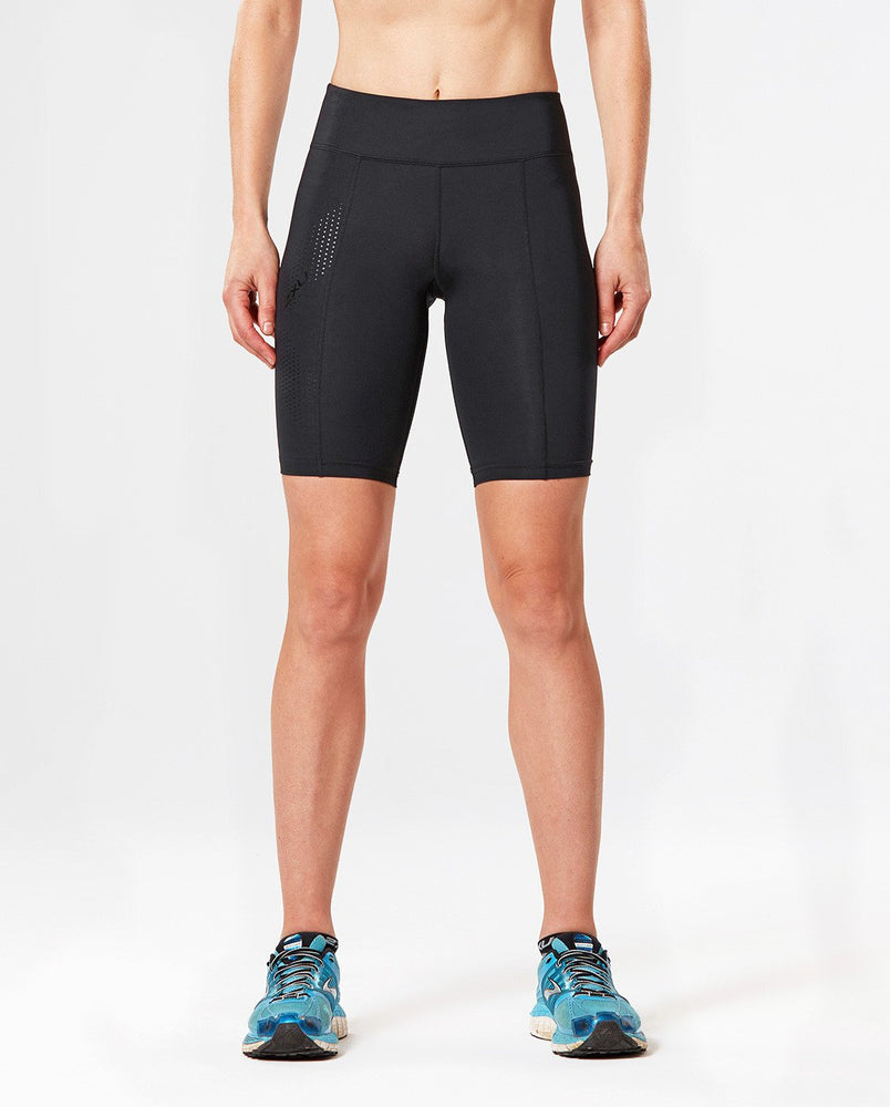 2XU WOMEN'S MID-RISE COMPRESSION SHORT WA3027B BKD/BK