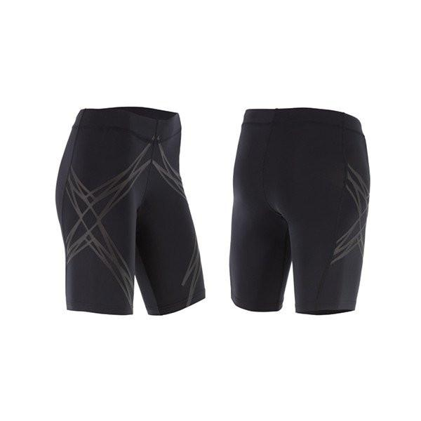 2XU WOMEN'S LOCK COMPRESSION SHORTS-WA4513B (BLK/NRO)