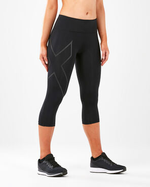 2XU Women's Run Mid Rise Compression 3/4 Tights