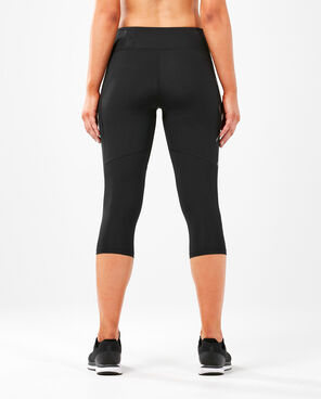 2XU Women's Run Mid Rise Compression 3/4 Tights : WA5313b