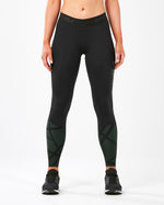 2XU Women's Accelerate Compression Tights With Storage-WA5372B (BLK/PNV)