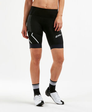 2XU Women's Steel X Compression Cycle Shorts-WC4923B (BLK/BLK)