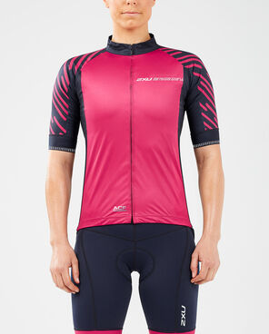 2XU Women's Wind Defence S/S Cycle Jersey-WC5419A (VTP/LTB)