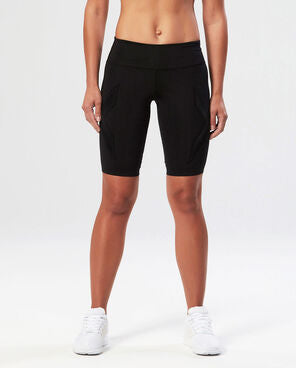 2XU Women's XTRM Compression Shorts-WR3156B (BLK/SCT)