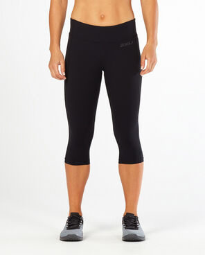 CORE RUN CAPRI 3/4 TIGHTS WR4573B BLK/BLK (SIZE XXS)