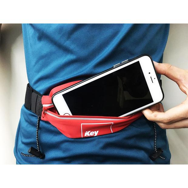 KPS RUNNING WAIST BELT WHIT BIB HOLDER - RED