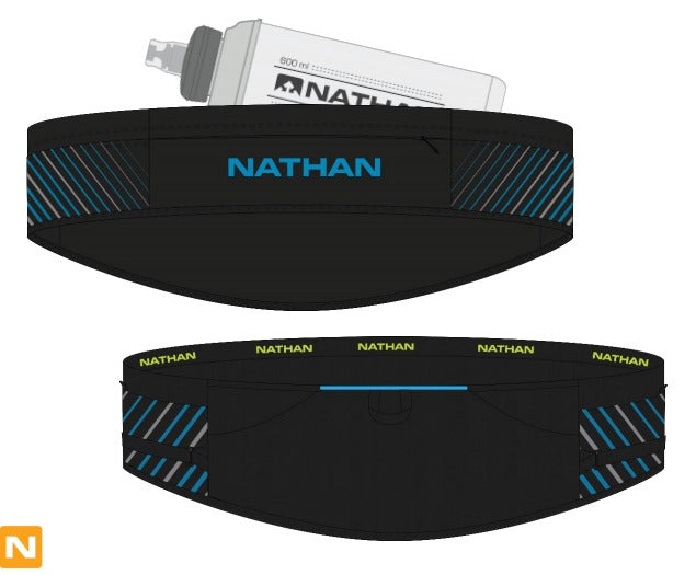 Nathan Pinnacle Belt - Black/BlueMeAway