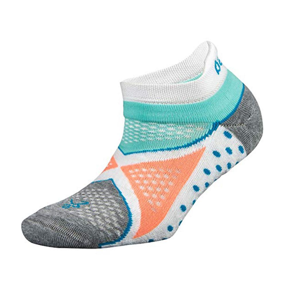 Balega Women's Enduro No Show Running Socks - White/Aqua