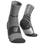 COMPRESSPORT SHOCK ABSORB SOCKS - GREY MELANGE