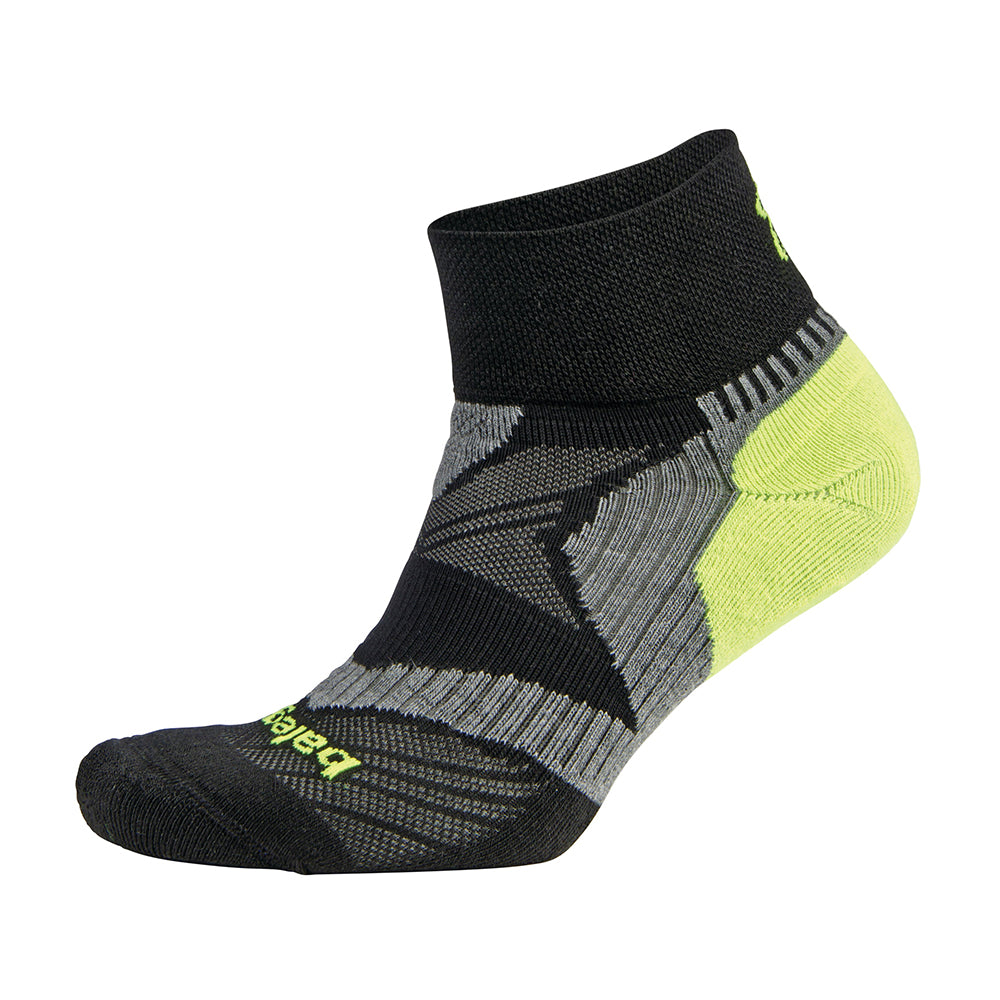 Balega Enduro V tech Quarter Socks - Black/Grey/Neon Yellow