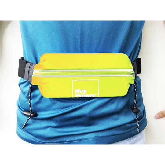 KPS RUNNING WAIST BELT WITH BIB HOLDER - YELLOW