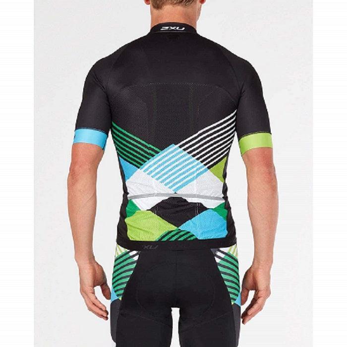 2XU Men's Sub Cycle Jersey- MC4908A (BLK/GSM)