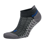 Balega Silver No Show Running Socks - Black/Carbon