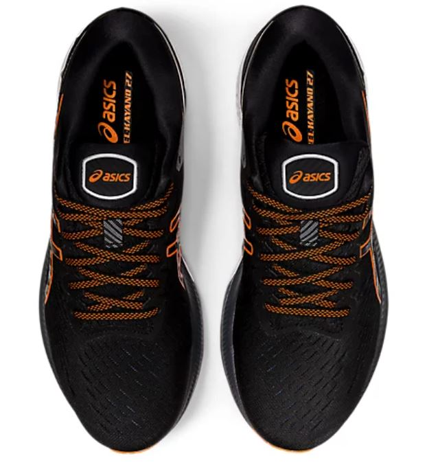 Asics Men's Gel-Kayano 27 - Black/Marigold Orange