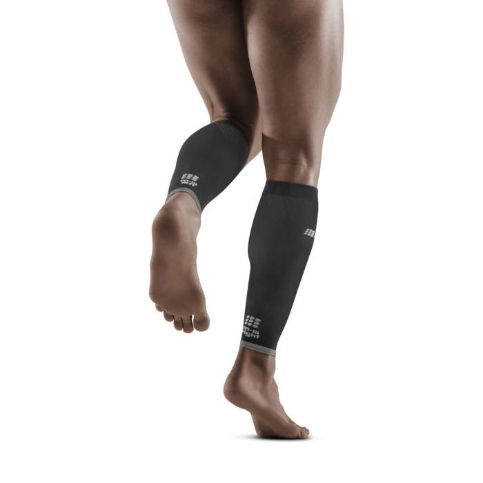 CEP Men's Ultralight PRO Calf Sleeves - Black/Light Grey