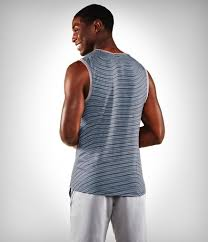 Manduka Transcend Tank Stripe-Sediment/Shadow Blue