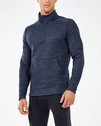 2XU Men's Urban 1/4 Zip Top- MR5112A (NVY/NVY)