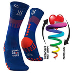 COMPRESSPORT MID COMPRESSION SOCKS (MDS-R-5080) - BLUE