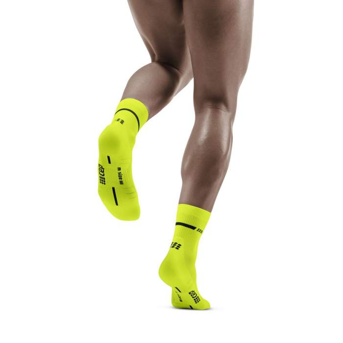 CEP Men's Compression Neon Mid Cut Socks WP3CAG