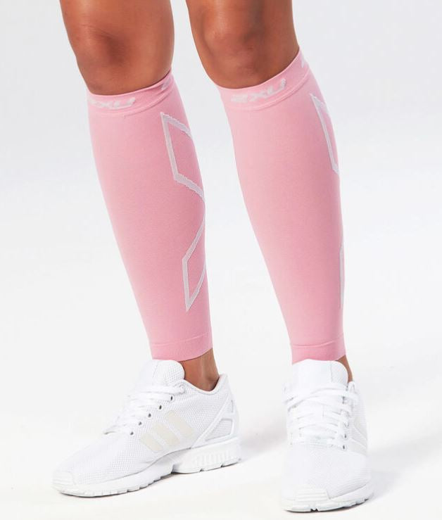 2XU Compression Calf Sleeves-UA2595B (PNK/PNK)