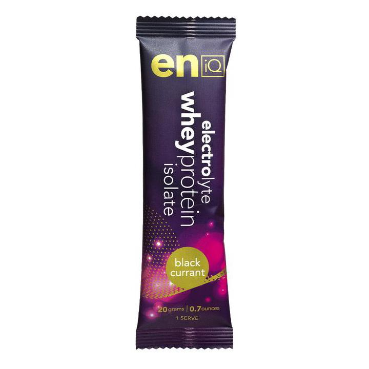 eniQ ELECTROLYTE / WHEY PROTEIN ISOLATE – BLACK CURRANT (20gm Sachet)