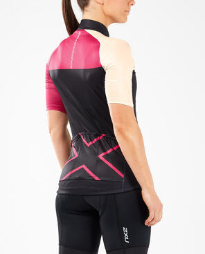 2XU Women's Elite Cycle Jersey-WC5425A (VTP/BLK)