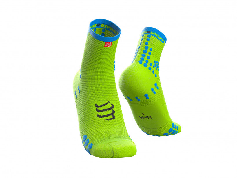 Compressport Unisex Pro Racing Socks v3.0 Run High Fluo Yellow - RSHV3-FL1100