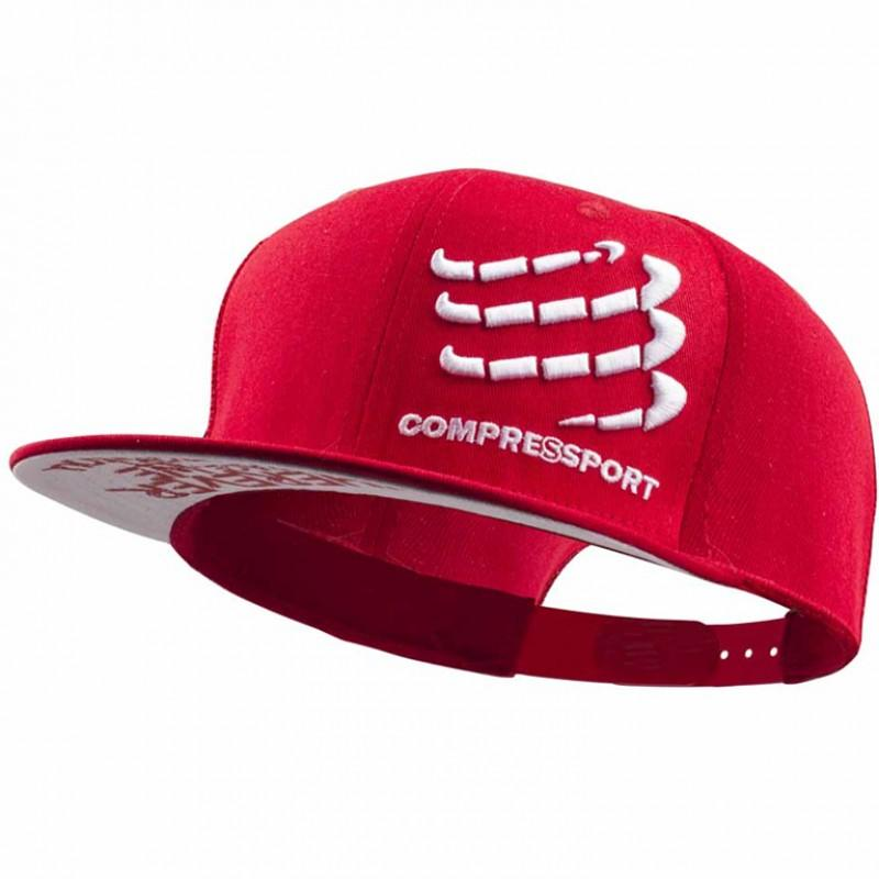 COMPRESSPORT FLAT CAP-RED (CAP-003)