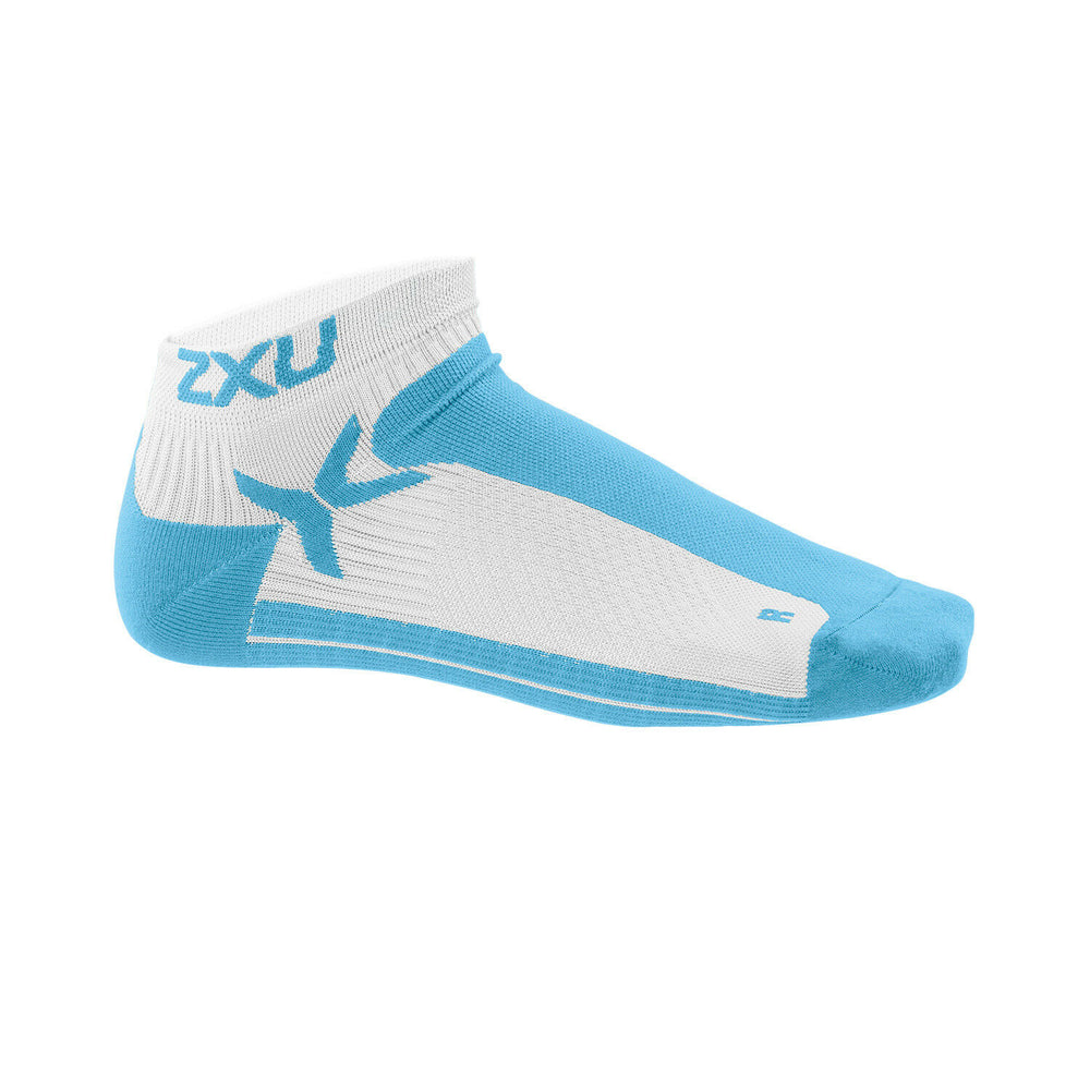 2XU Men's Performance Low Socks-MQ1903E (WHT/AMF)