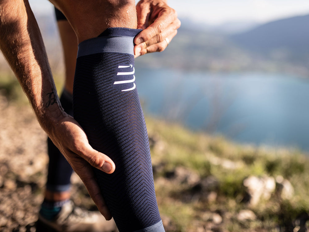COMPRESSPORT R2 OXYGEN CALF SLEEVES (R2V2UL-UTMB19-BLUE) - UTMB 2019
