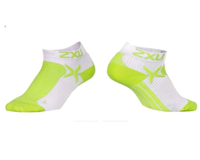 2XU Women's Performance Low Rise Socks-WQ1904E (LPU/WHT)
