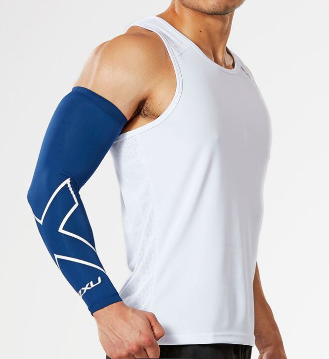 2XU Compression Arm Guard (Single)-UA3196A (NVY/WHT)